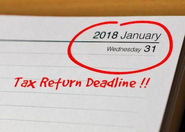 January 31 2018 Tax Return Deadline