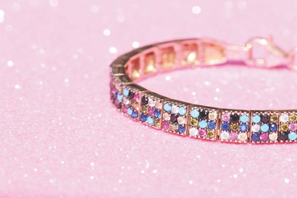 Storm Repeller Rainbow Three Row Rose Gold Plated Silver Bracelet cmyk1 WEB
