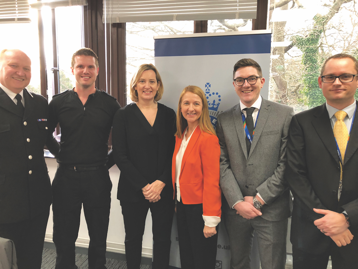 PCC Katy Bourne with Hastings MP and Home Secretary Amber Rudd at the recent launch of the Discovery Partnership in Hastings  which is one of the largest collective approaches in the UK dedicated to exposing human trafficking and modern slavery