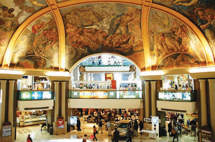 The murals in Galerias Pacifico Shopping Centre
