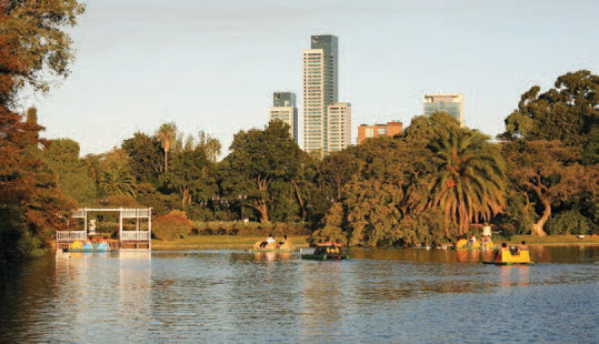 The lake and rose garden in Palermo, Buenos Aires