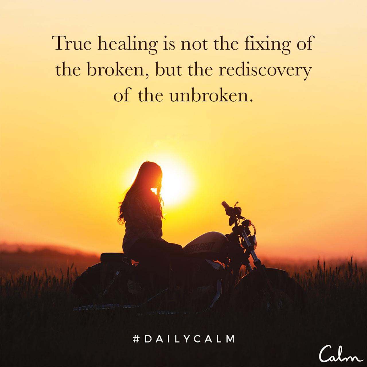 True healing...