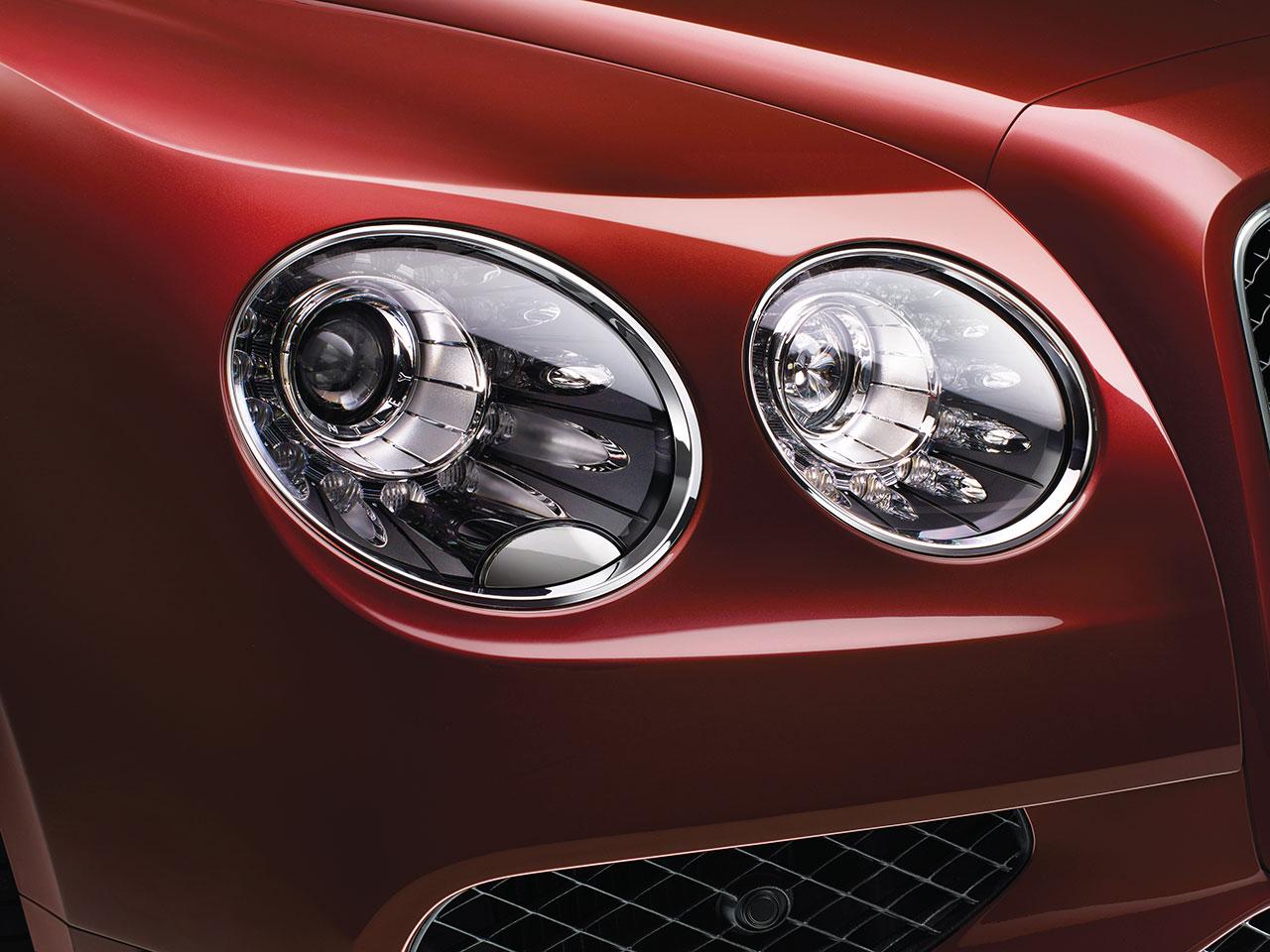 Bentley Flying Spur V8 S Headlight Detail