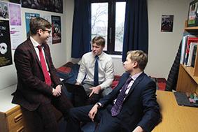 st johns boys in study bedroom