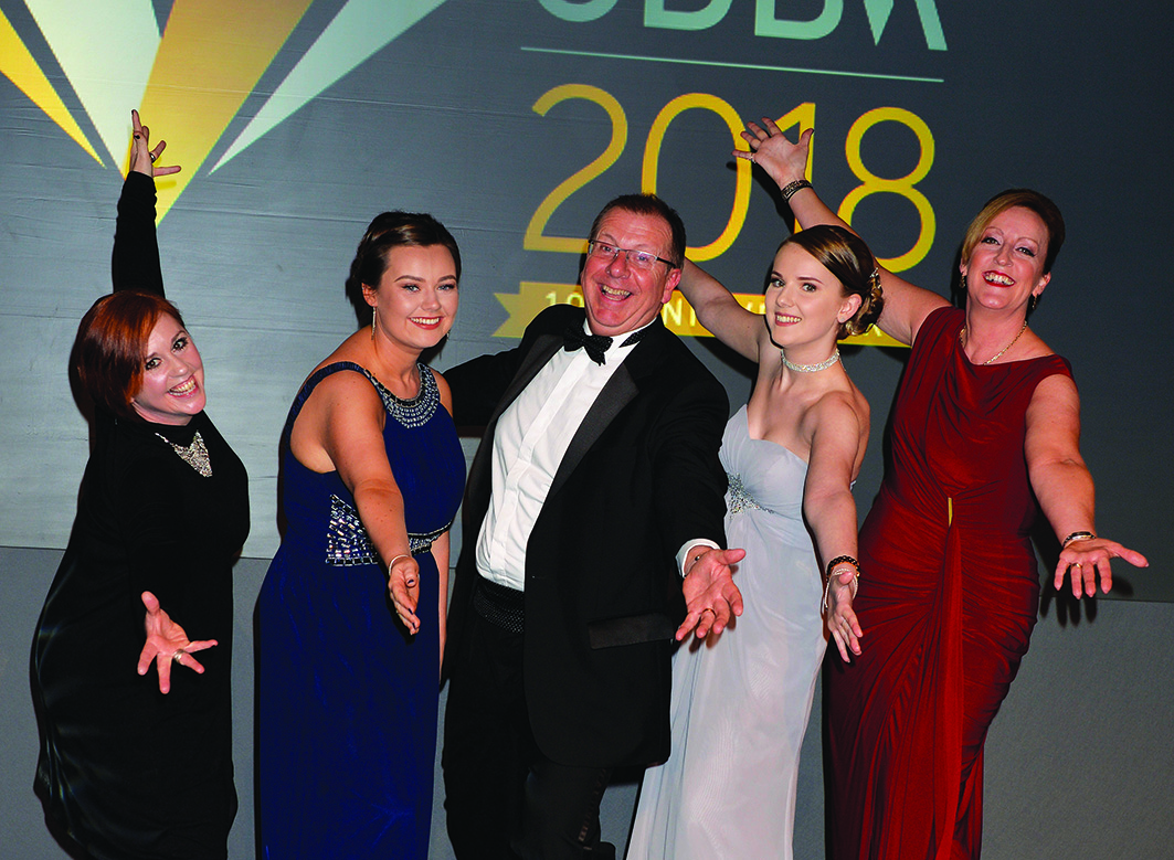 PAGE 61 gdb Team celebrate10th Gatwick Diamond Business Awards 2018