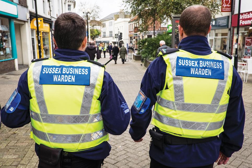 Katy Bourne police Business wardens in Eastbourne