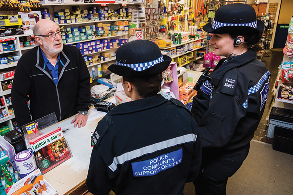 Katy Bourne police Retail police