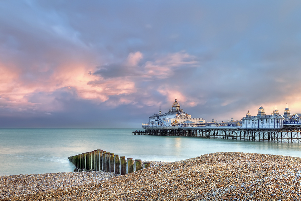 Eastbourne pier just before sunset