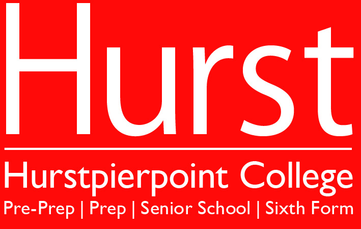 Hurst logo all schools reversed out CMYK