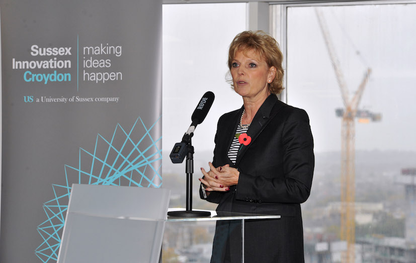 Anna Soubry MP opens  the Sussex Innovation Centre in Croydon in 2015