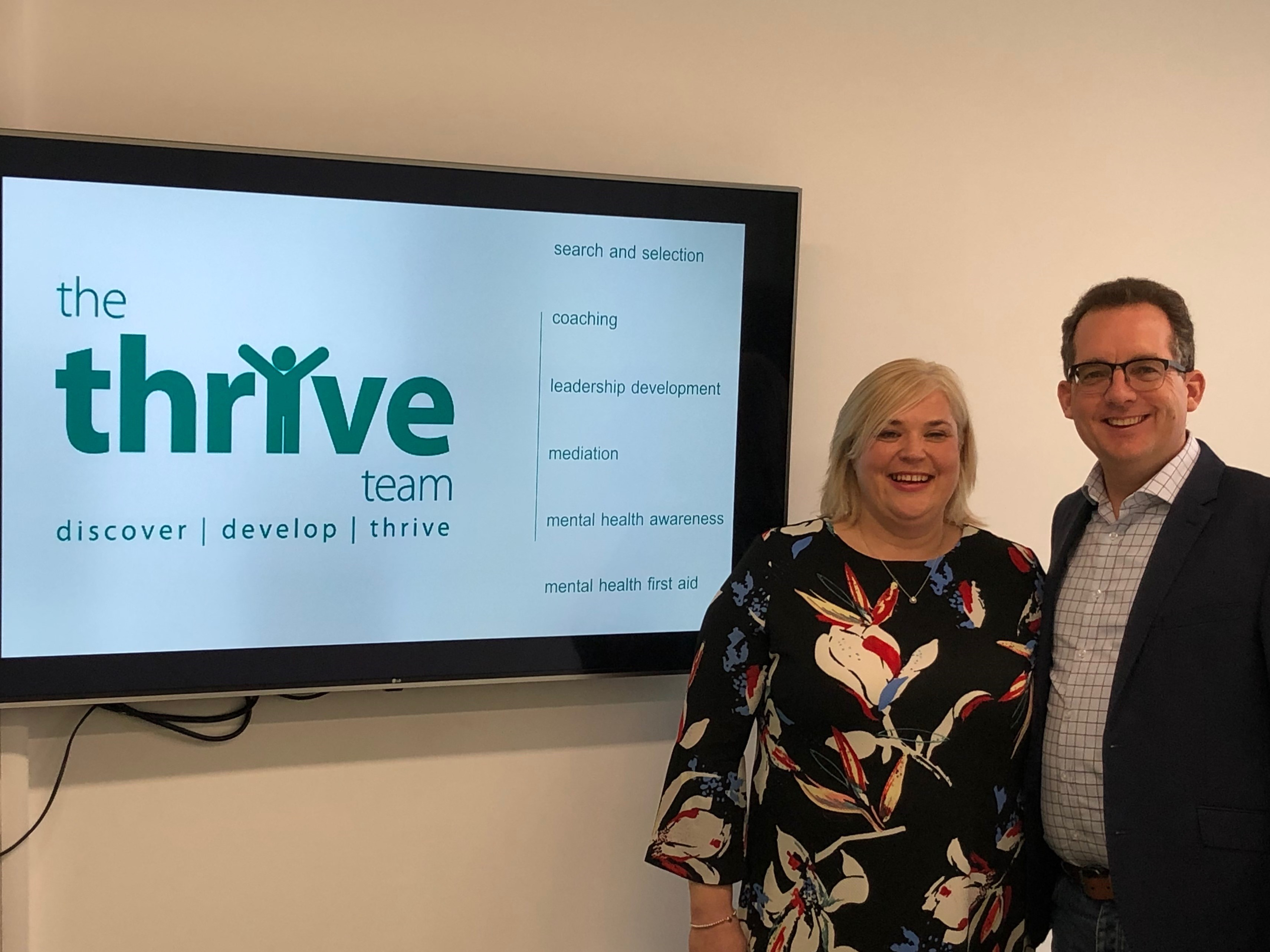 Co founders of the Thrive Team  Alison Trodd and Martin Grady