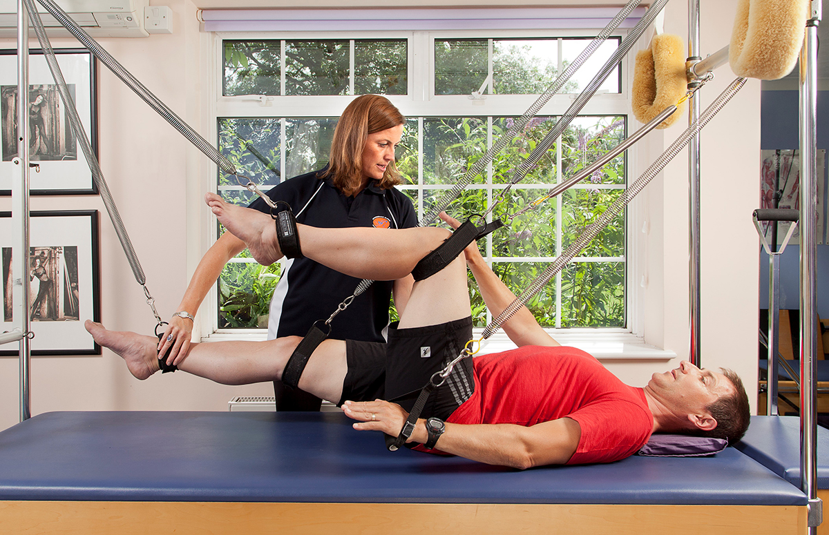 Jo teaching Pilates as a form of rehab web
