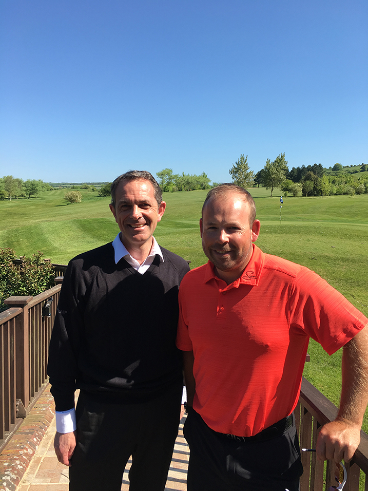 Laurence with Jusin Walters at West Hove Golf Club