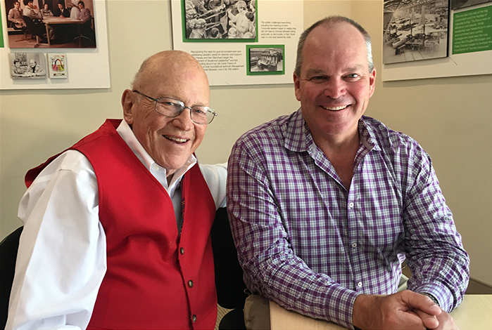 Scott and Ken Blanchard together with caption 5 19
