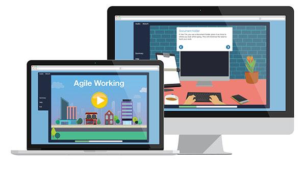 WorkRite Agile laptop screen