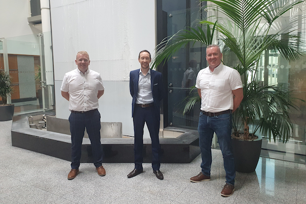 EVM extra image L to R  Danny McGee  Dan Sibley  Peter Flynn  WEB