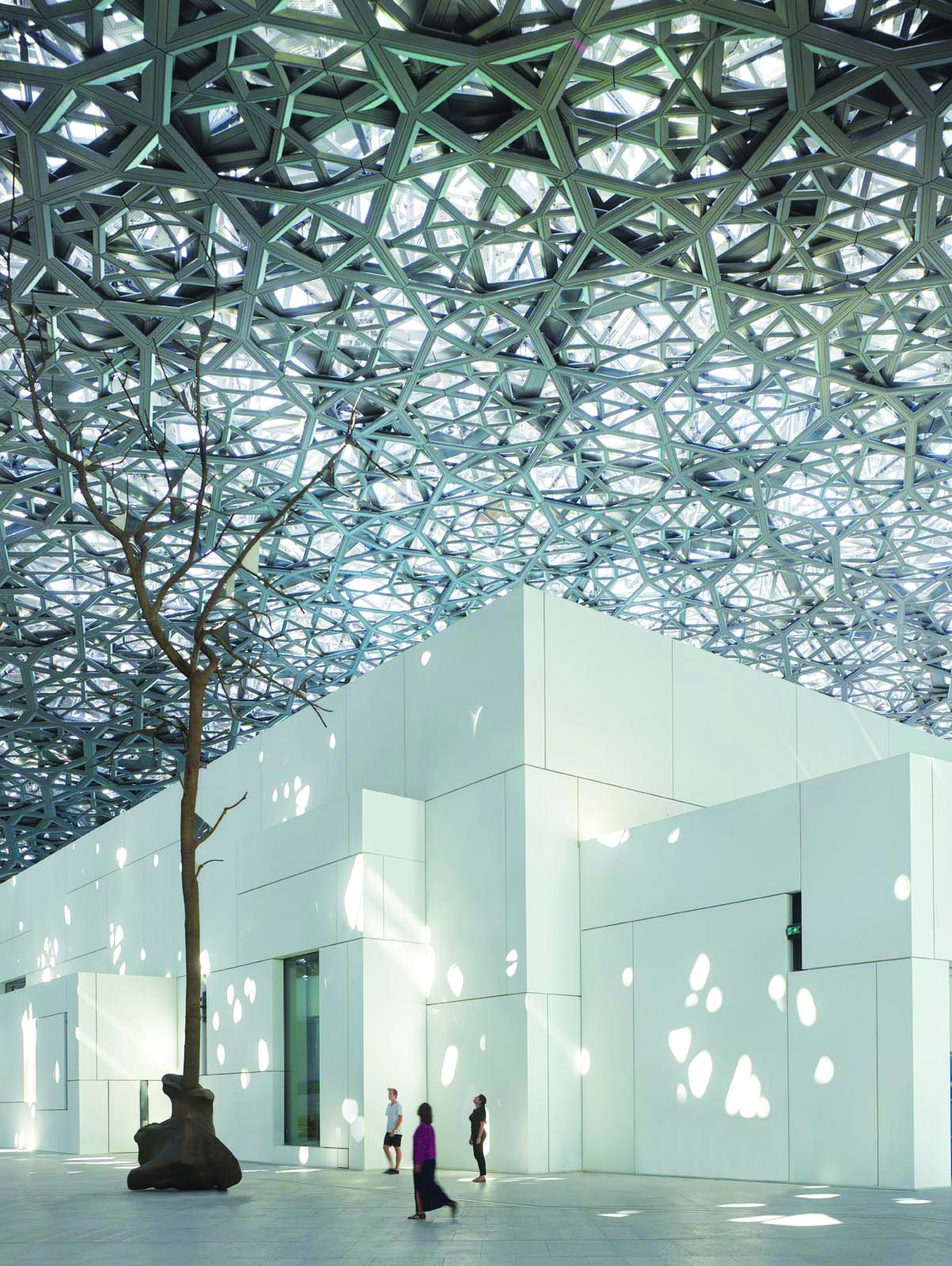 Abu Dhabi Plaza at the Louvre Abu Dhabi  Photography Roland Halbe