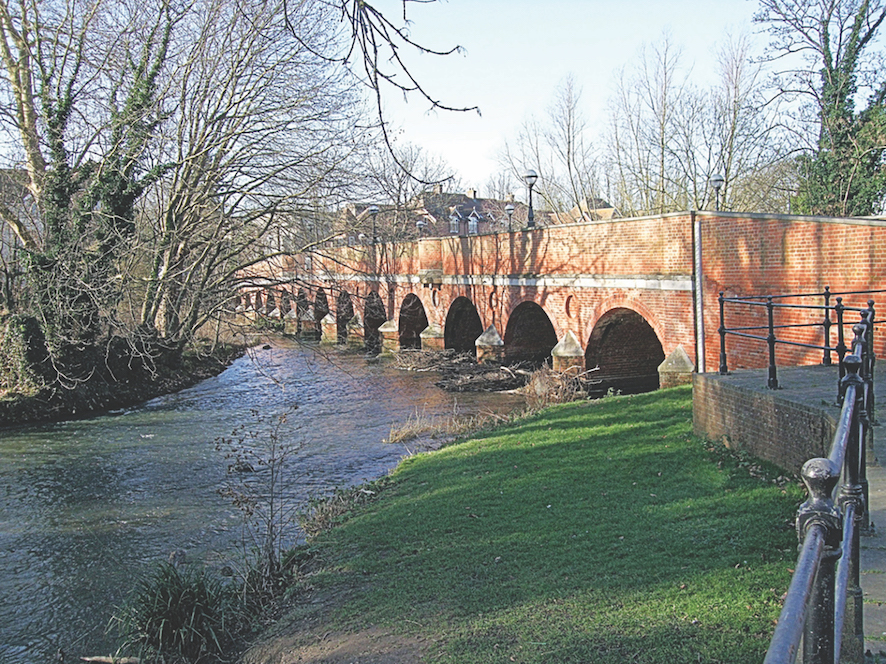 Leatherhead Town Bridge Over The River Mole