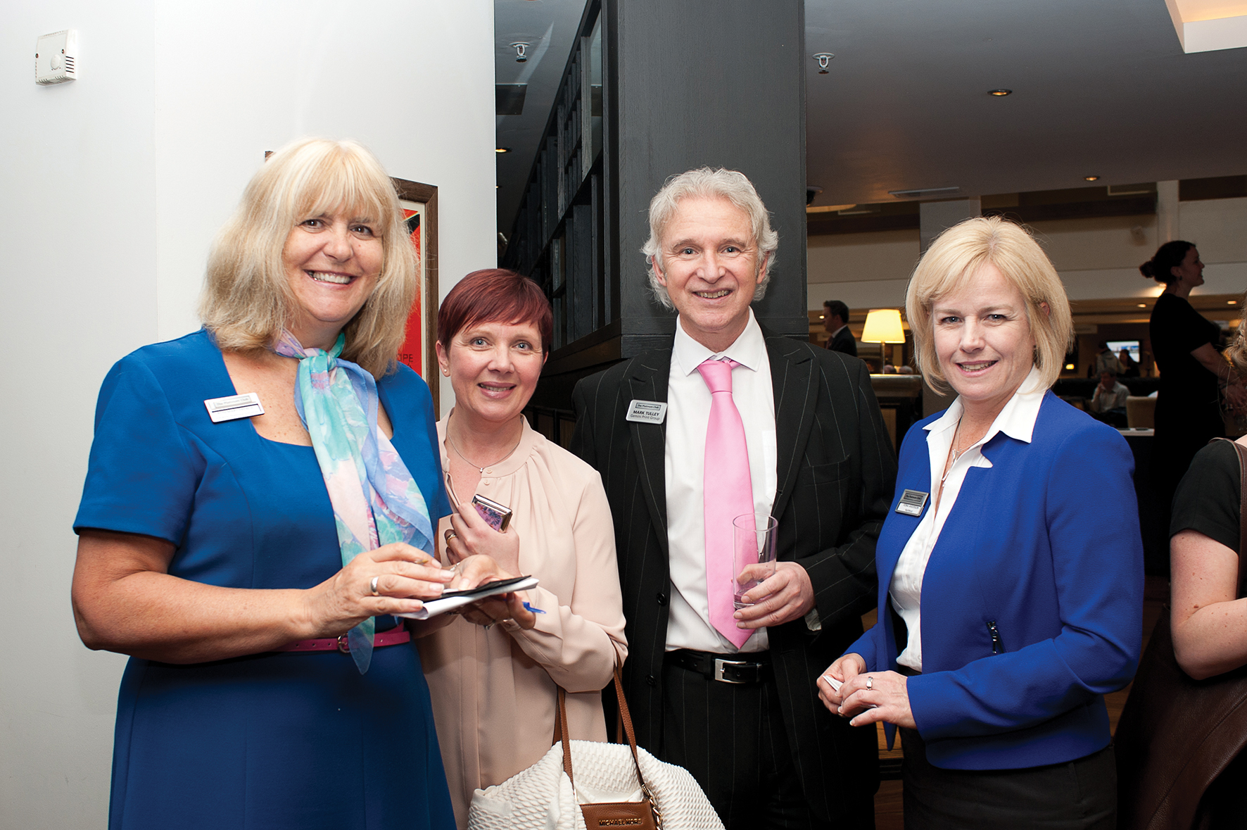 Rosemary French OBE   Gatwick Diamond Initiative   Janette Whitney  Whitney Associates   Mark Tully  Gemini Print   Fiona Anderson  NatWest
